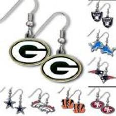 NFL Football Womens Jewelry Dangle Earrings Team Logo - Pick Your Team!