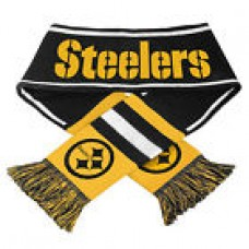 Pittsburgh Steelers Scarf Knit Winter Neck NEW NFL 65