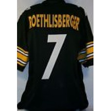 Ben Roethlisberger Pittsburgh Steelers Unsigned Custom Black Jersey Size 2X