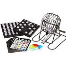 Complete Bingo Game Set Cage Balls Cards Markers Board Kit Family Night Fun