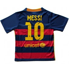 2015/2016 FC BARCELONA HOME LEO MESSI 10 FOOTBALL SOCCER KIDS JERSEY (12-13
