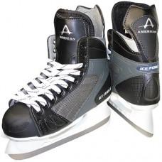 American Athletic Shoe Boy's Ice Force Hockey Skates, Black, 1