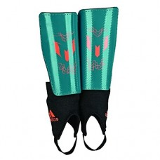 adidas Performance Messi 10 Youth Shin Guard, Power Teal/Solar Orange, Larg