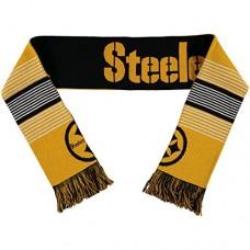 NFL Pittsburgh Steelers Reversible Split Logo Scarf, Black