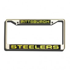 NFL Pittsburgh Steelers Laser-Cut Chrome Auto License Plate Frame