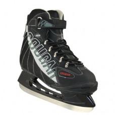 American Athletic Shoe Senior Cougar Soft Boot Hockey Skates, Black, 12