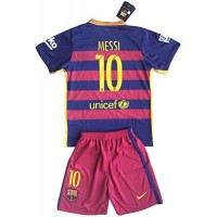 Messi #10 FC Barcelona Youths Home Kit Shirt & Shorts (11- 13 Years Old)