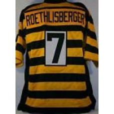 Ben Roethlisberger Pittsburgh Steelers Unsigned Custom Bumblebee Jersey Size 2XL