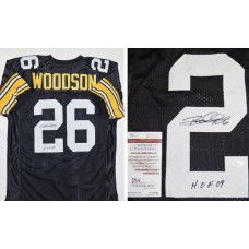 Rod Woodson Autographed / Hand Signed Pittsburgh Steelers Jersey - with HOF