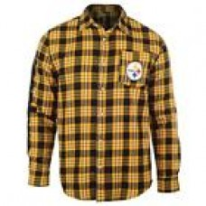 NFL Football Team Logo Mens Long Sleeve Wordmark Flannel Shirt - Pick Your