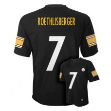 Ben Roethlisberger Pittsburgh Steelers #7 NFL Youth Jersey Black (Youth Xla