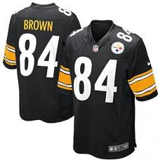 Mens Pittsburgh Steelers Antonio Brown Nike Game Jersey (Black, X-Large)