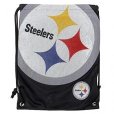 NFL Pittsburgh Steelers 2015 Jersey Drawstring Backpack, Black