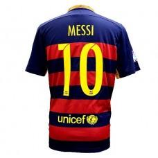 FC Barcelona Messi Home Soccer Jersey 2015 - 2016 Football Shirts (M)