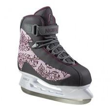 American Athletic Shoe Women's Soft Boot Hockey Skates, Grey, 8